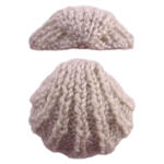 knitted cockleshell pattern