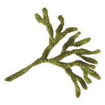knitted seaweed pattern