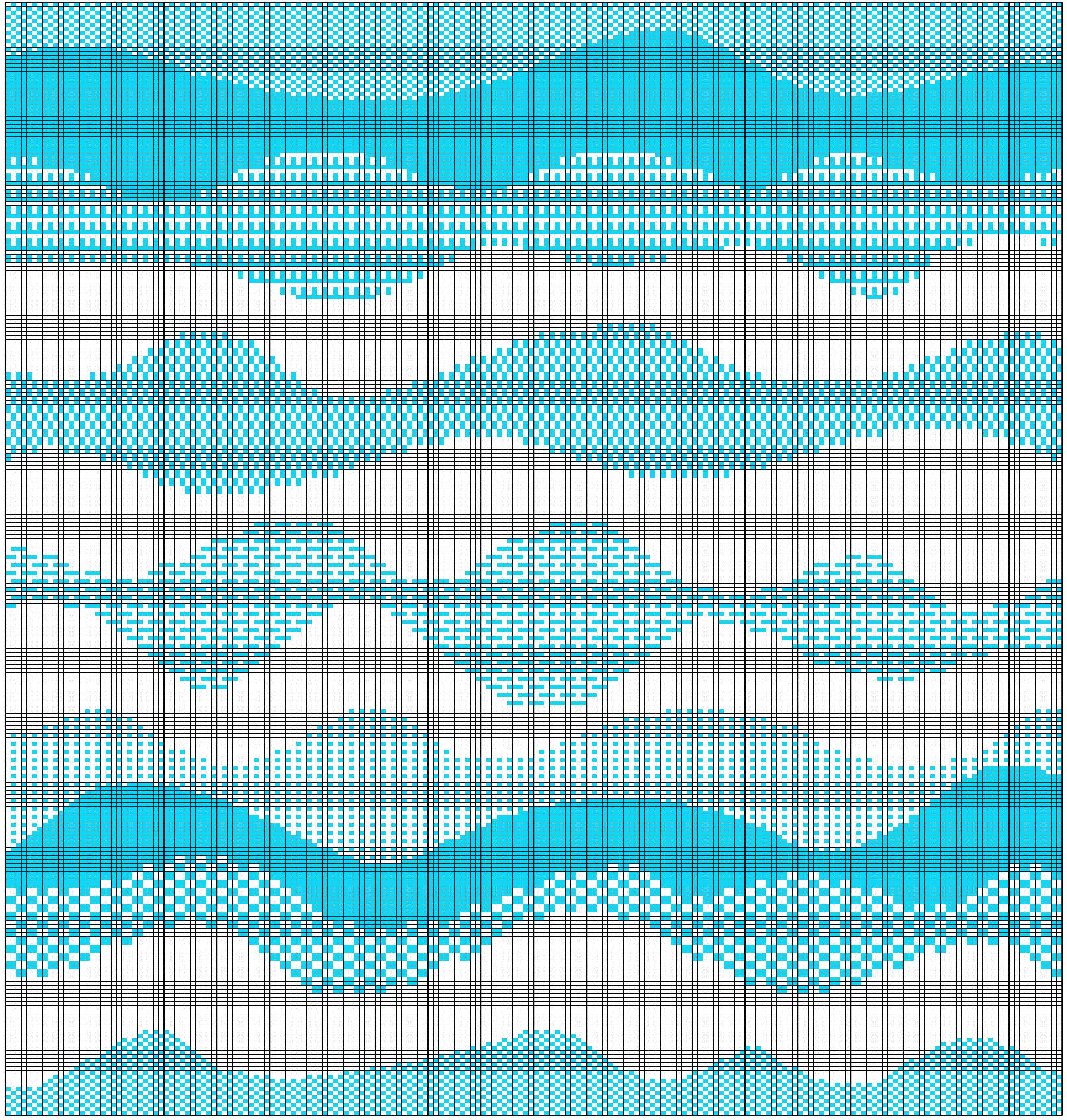 ODDknit - Free Knitting Patterns - Charts - Free Form Waves - Waves 01