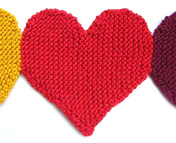 ODDknit - Free Knitting Patterns - Banner of Hearts