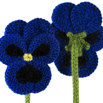Flower Knitting Patterns Free : Craft Passions: Pancy flower# free knitting pattern link here