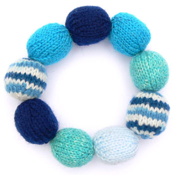 bracelet made of knitted beads