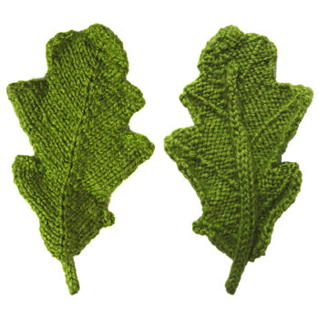 How To Knit A Leaf Pattern : ODDknit - Free Knitting Patterns - Oak Leaf